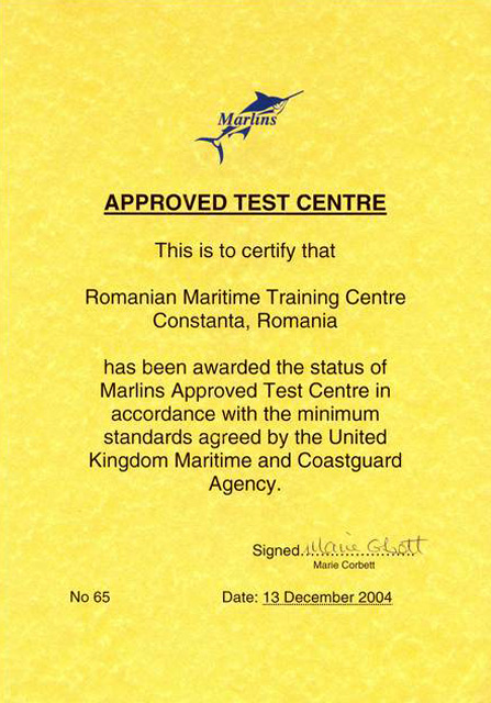 MARLINS Aproved Test Centre